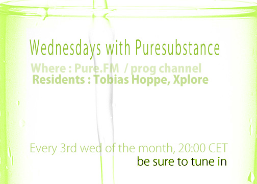 Xplore - Wednesdays with Pure Substance on Pure.FM flyer